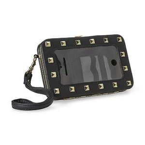 Bongo Womens Studded Cell Phone Clutch